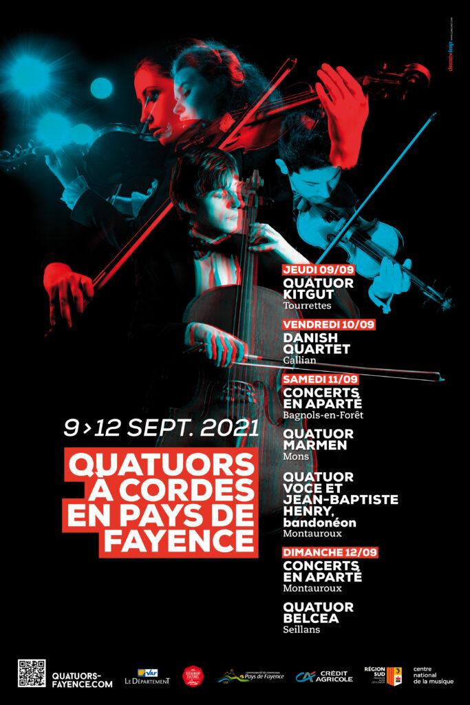 Affiches quatuors fayence 2021